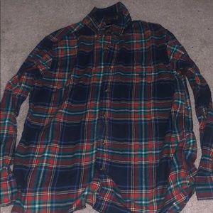 Multi-colored flannel